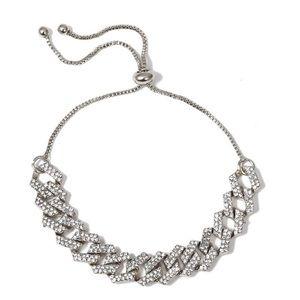Anklet Bracelet Chain Silver Crystal